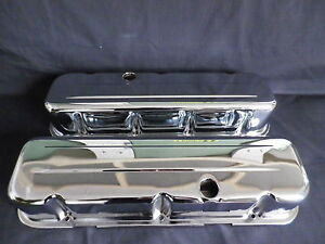 VALVE-COVERS-CHROME-3-5-8-INCH-TALL-STEEL-BIG-BLOCK-CHEVROLET-NOT-CHINA-MADE