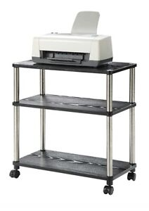 Details About Small Mobile Laptop Printer Cart With Wheels Rolling Stand Portable Office Table