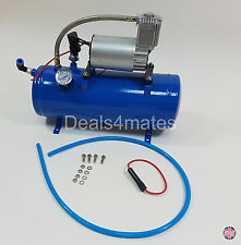 NEW 150 PSI AIR COMPRESSOR WITH 6 LITER TANK FOR AIR HORN TRAIN TRUCK RV PICK UP