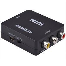 Mini 1080P HDMI to RCA Audio Video AV CVBS Adapter Convert Capacity For HDTV