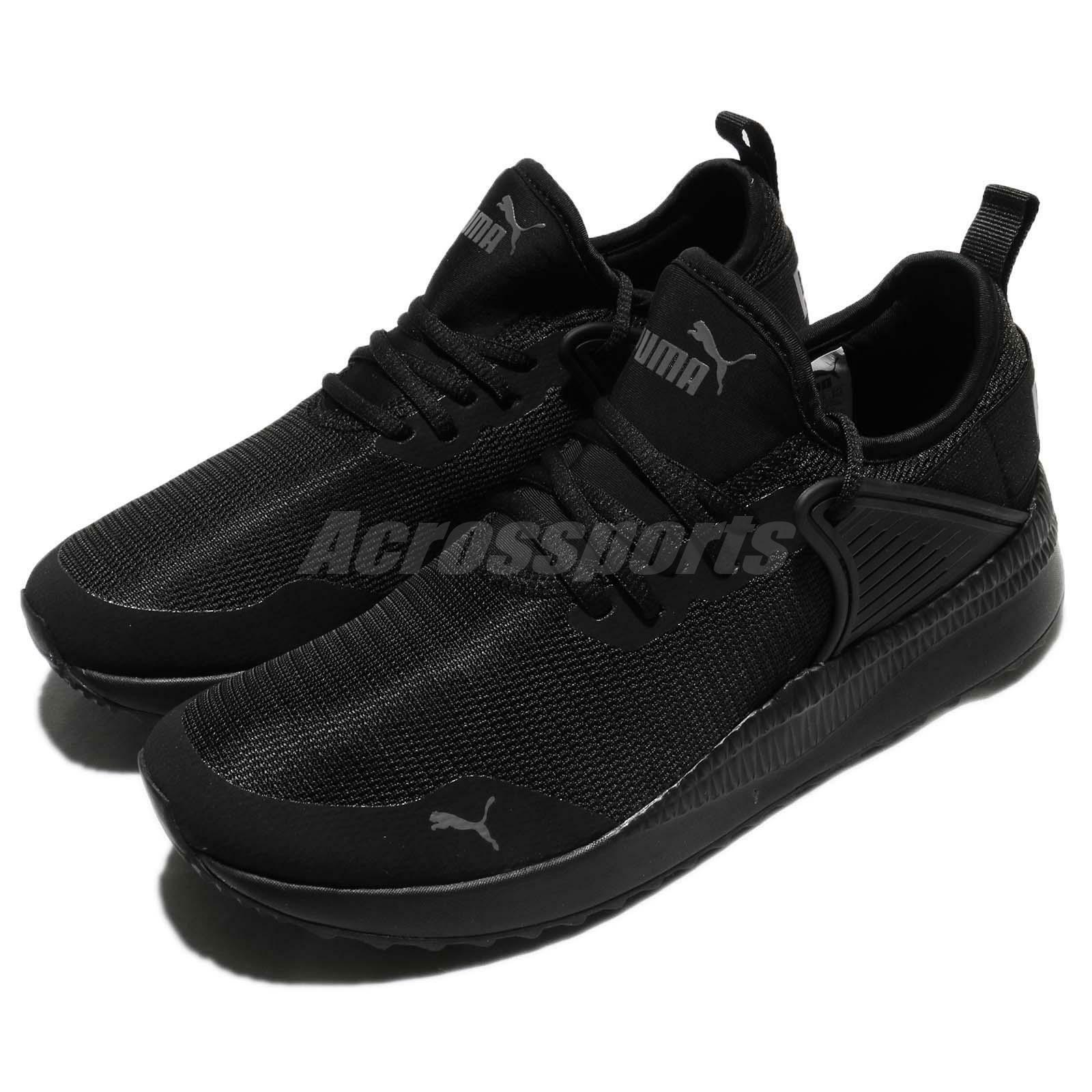 251bf99726 Puma Pacer Next Cage Triple Black Men Running Shoes Sneakers 365284-01