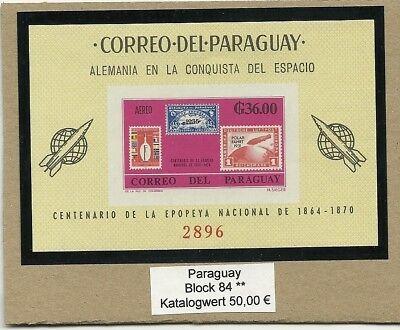 0737/ Paraguay Block 84 ** Marke Auf Marke