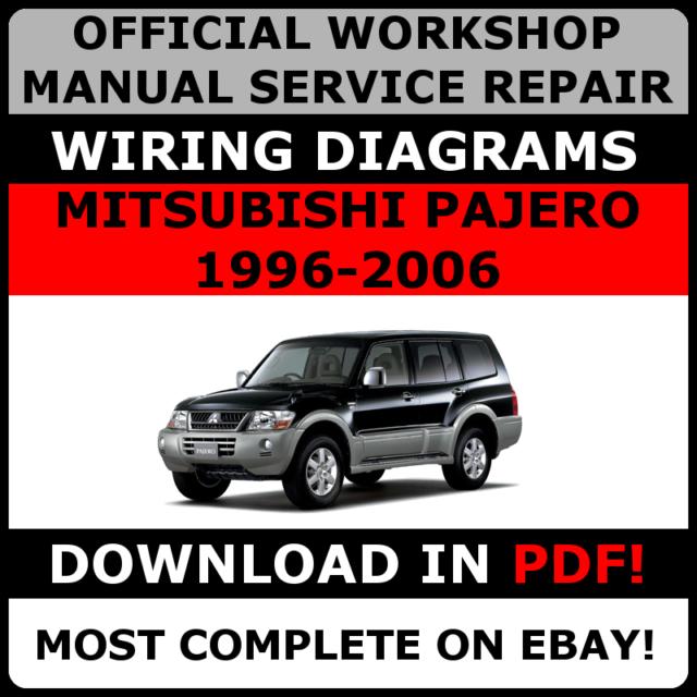 Official Workshop Service Repair Manual Mitsubishi Pajero