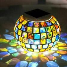 Color Changing Solar Powered Glass Ball Garden Light Outdoor Table Lights Lamp