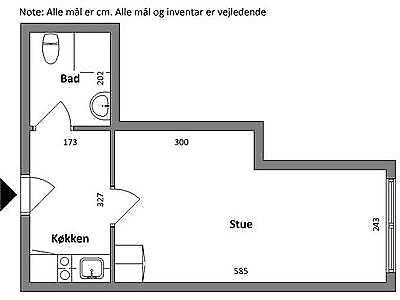 7400 vær. 1 lejlighed, m2 44, Museumsgade
