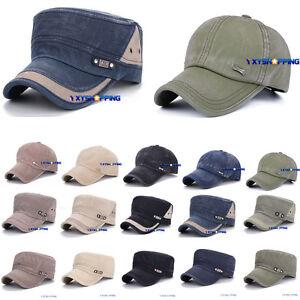 Army Plain Hat Cadet Combat Field Military Cap Style Patrol Baseball  Trend