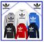 Adidas-Originals-Men-039-s-Trefoil-Fleece-HOODIE-Hooded-Sweatshirt-Jumper-Top-Zipper miniatura 1