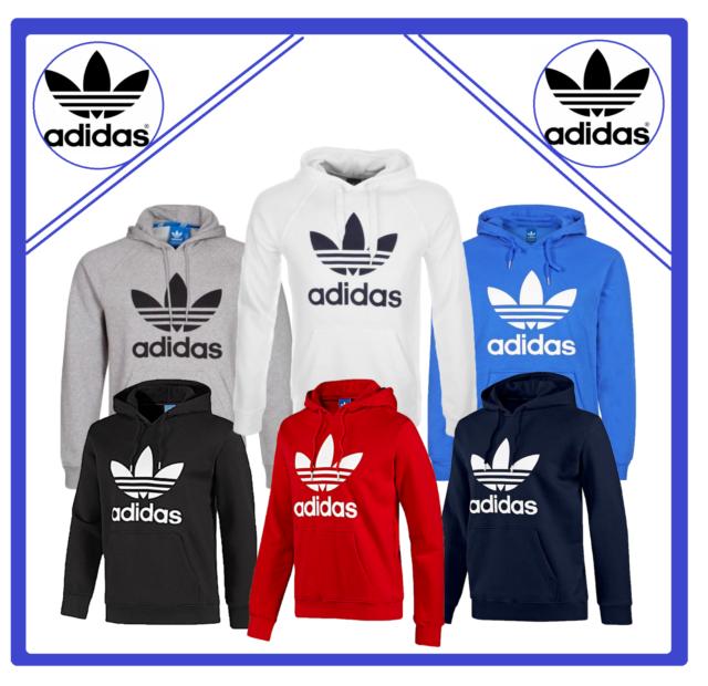 Adidas Originals Men's Trefoil Fleece HOODIE Sweatshirt Jumper Top Zipper XMAS