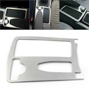 Car-Central-Control-Water-Cup-Holder-Panel-Decorative-Trim-For-Benz-C-Class-W204