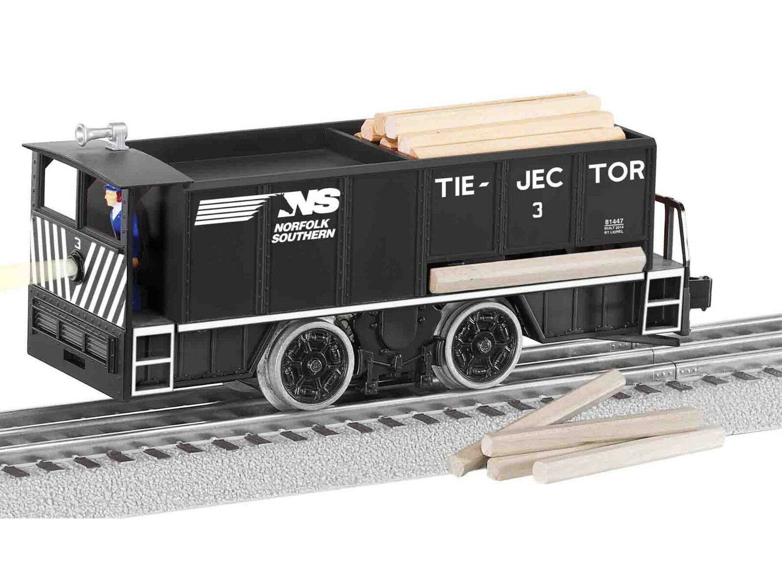 Lionel Norfolk Southern Command Controlled Tie-jector Motorized Car