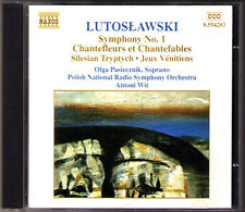 LUTOSLAWSKI Symphony 1 Chantefleurs et Chantefables Jeux Venitiens ANTONI WIT CD