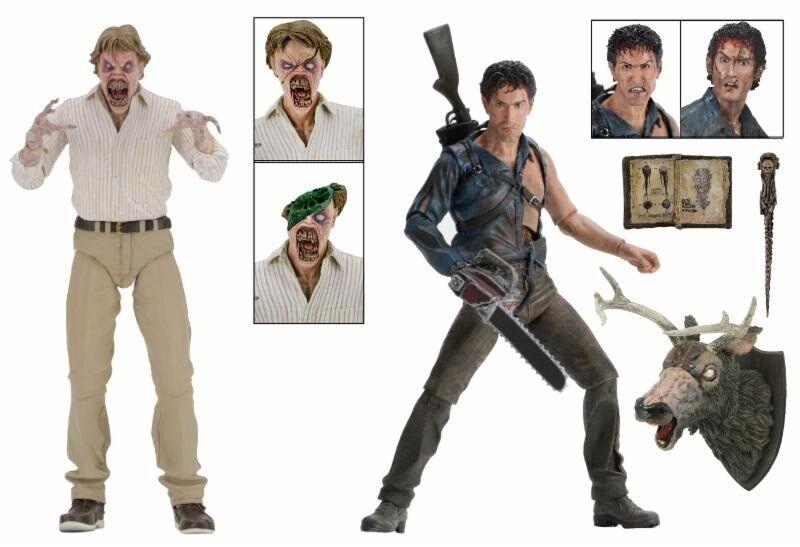 EVIL DEAD 2  HERO ASH & EVIL ED – 30th ANNIVERSARY 2er-pack 7″ Action-Figur NECA