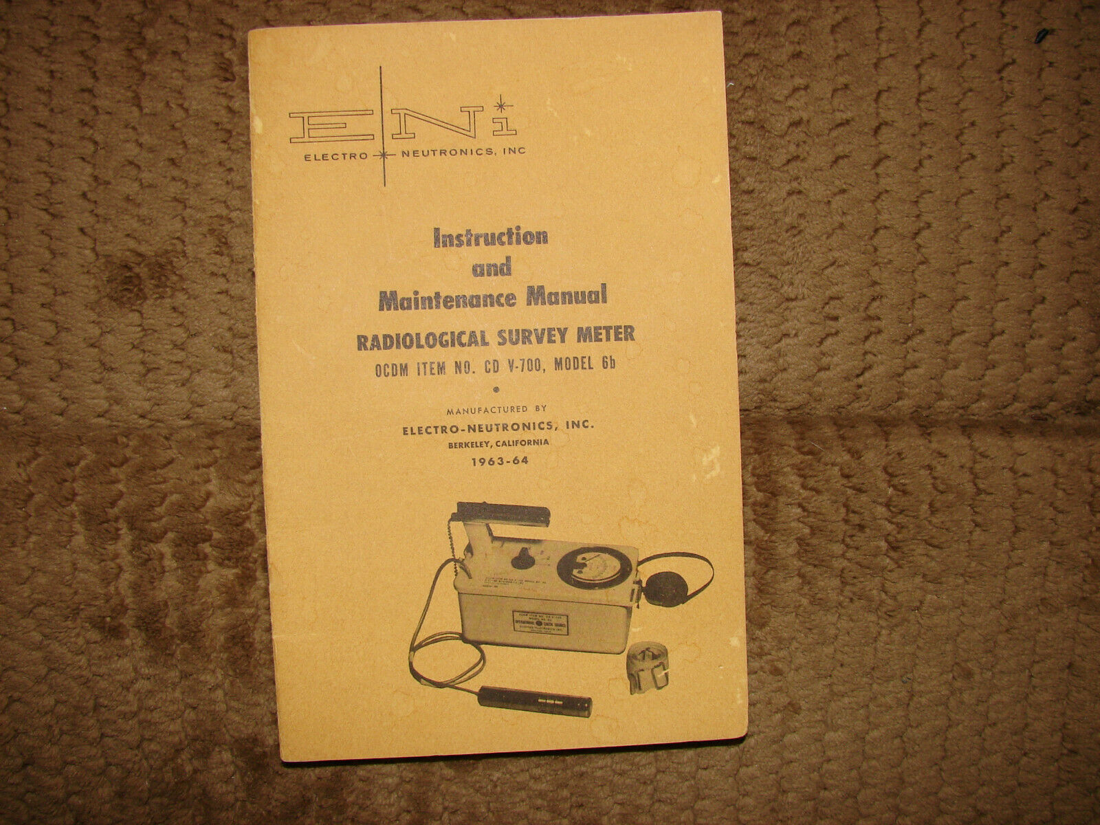s l1600 - CDV700 ENI 6B geiger counter & radiation detector manuals