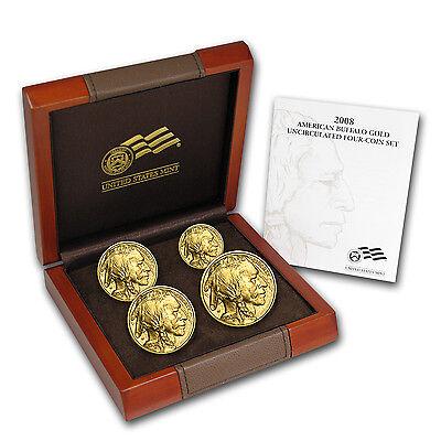 2008-W 4-Coin Gold Buffalo Set BU (w/Box & COA) - SKU #54518
