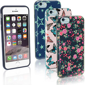 Floral-Stern-Schmetterling-Tasche-Gel-TPU-fuer-Apple-iPhone-6-amp-6S-4-7-Etui-Huelle