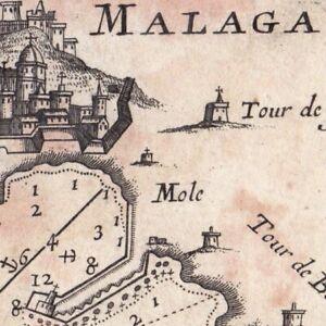 Carte Geographique Andalousie.Details Sur Carte Geographique Xviiie Malaga Andalousie Espagne Malaga Andalucia Malaga 1764