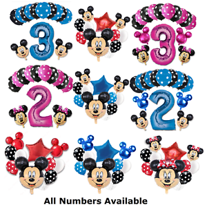 Disney-Mickey-Minnie-Mouse-Birthday-Foil-Latex-Balloons-Blue-Pink-Number-Sets