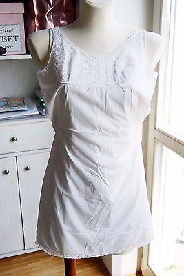 Abile Fatto Italia Imec Vintage In Pizzo Frontale Pannello Busto Bianco Sporco Slip Uk 10-mostra Il Titolo Originale Firm In Structure
