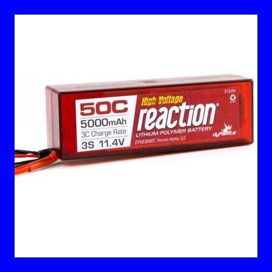 Dynamite Reaction HD 11.4v HV 5000mah 3S 50C Lipo Hardcase EC5   Losi Proboat