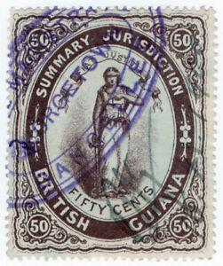 I-B-British-Guiana-Revenue-Summary-Jurisdiction-50c-1883
