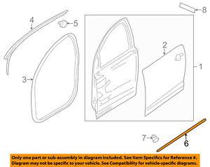 GM OEM Rear Door-Front Weatherstrip Seal Left 25862440