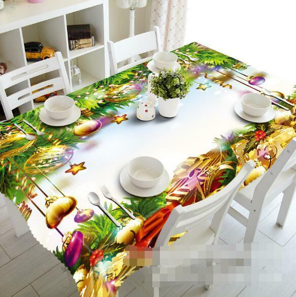 3D or bell 9 Tablecloth Table Cover Cloth Birthday Party Event AJ WALLPAPER AU