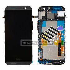 New LCD display Touch Screen Digitizer + Frame Assembly for HTC ONE M8 Grey UK