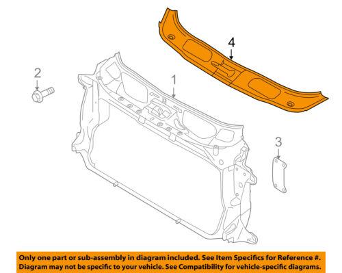 PORSCHE OEM 10-16 Panamera Radiator Core Support-Closure Panel 970504811011E0