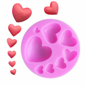 Love-Heart-Candy-Cake-Mold-Chocolate-Mould-3D-Fondant-Mold-Silicone-Sugar-Craft