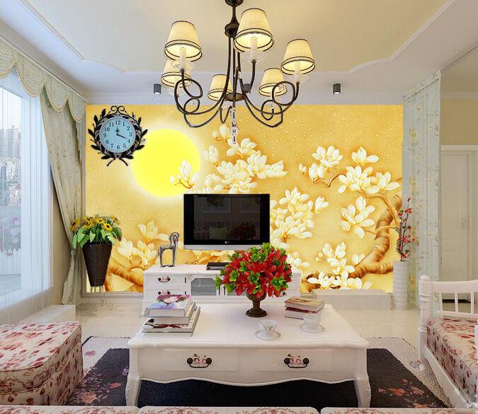 3D Tree Gelb sun 2165 Paper Wall Print Decal Wall Wall Murals AJ WALLPAPER GB