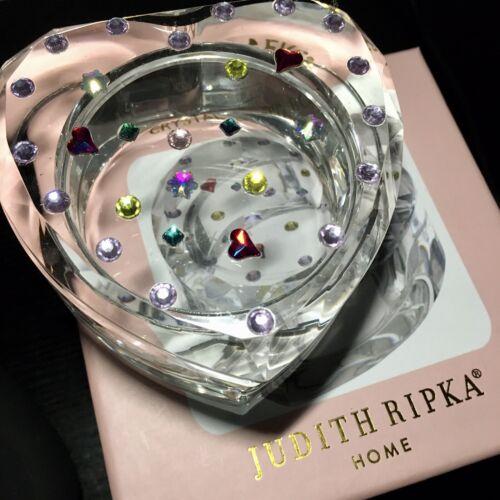 Judith Ripka Valentine Jewels Heart Crystal Rhinestone Jewelry Trinket Box NIB