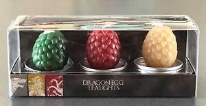 Game-Of-Thrones-3-Dracheneier-Teelichter-Kerzen-Targaryen-Drache-Ei-Deko-Primark