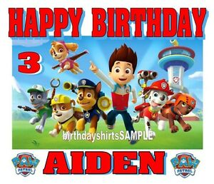 Image Is Loading NEW PERSONALIZED CUSTOM PAW PATROL BIRTHDAY SHIRT PARTY