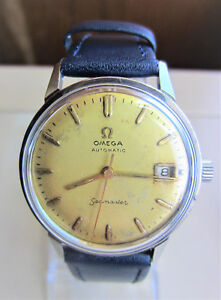 Gents-1960s-SS-Omega-Seamaster-Automatic-24-Jewels-Date-Watch-cal-565-Serviced