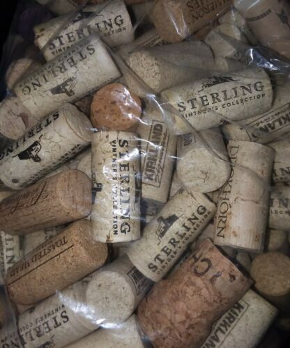 200 Wine Corks Variety of Brands for Crafts or Survival Supply Free Shipping