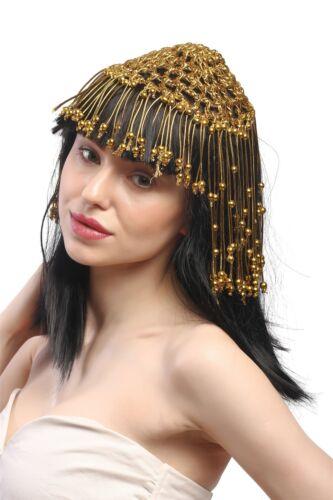 Damen Perücke Cleopatra Kurtisane Harem 20er Jahre Glamour 1001 Nacht Schwarz