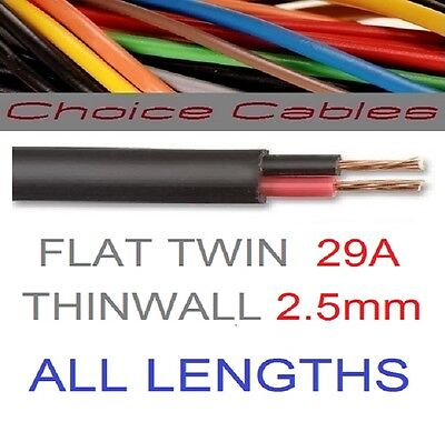 11A 14A 16.5A THINWALL 12v AUTOMOTIVE CABLE WIRE CAR MARINE WIRING LOOM
