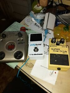 3-pedal-lot-Boss-sd-1-polytune-floor-tuner-Zoom-G1Next-free-freight