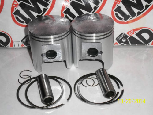 2 NEW PARTS STD 54mm SUZUKI GT250 GT250X7 PISTON KITS