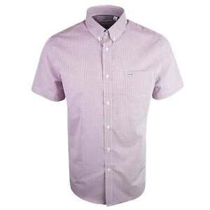 Lacoste-CH3972-Coupe-Standard-Rose-Chemise-a-manches-courtes