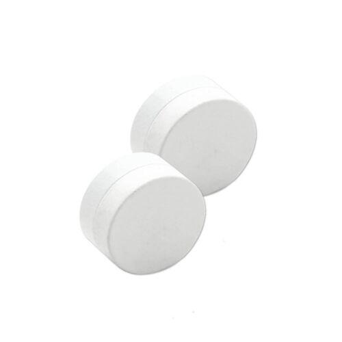 2 magnéticos fakeplugs blanco Fake Plug imán orejas sin agujero piercing túnel