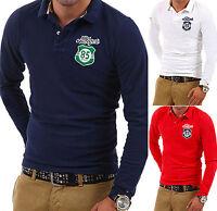 TOMMY HILFIGER Poloshirt Longsleeve T-Shirt Polo Hemd Weiß/Navy/Rot Pullover NEU