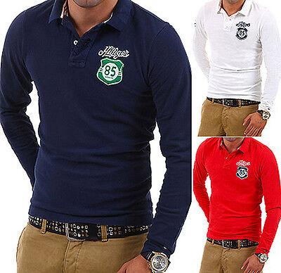 TOMMY HILFIGER Poloshirt Longsleeve T Shirt Polo Hemd WeißNavyRot Pullover NEU | eBay