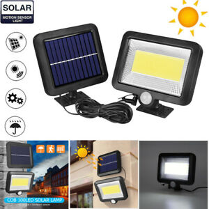 100LED-Solarleuchte-mit-Bewegungsmelder-Solarstrahler-Aussenleuchte-Gartenlampe