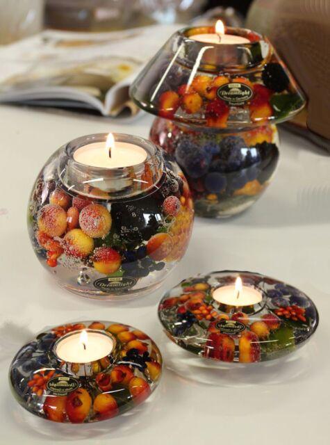 Gilde Dreamlight Kerzen Lampe Glas Teelichthalter Ufo Noblesse Smart Very Berry