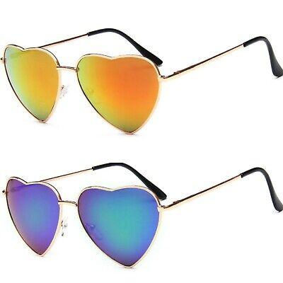 Gewissenhaft Herzförmig Metallrahmen Sonnenbrille Federscharniere Uv400