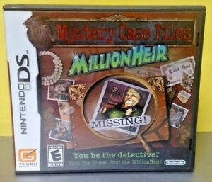 Millionheir-Mystery-Files-Nintendo-DS-DS-Lite-3DS-2DS-Game-Complete-Tested