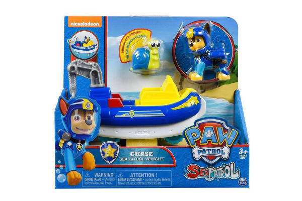 Paw Patrol Sea Patrol Chase Vehicle Toy Authentic Paw Patrol Toy with Sea Friend