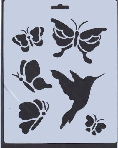 Revestido de plástico//PVC//// papel//Plantilla//Multi//Mariposa//Mariposas//Pájaro//Nuevo