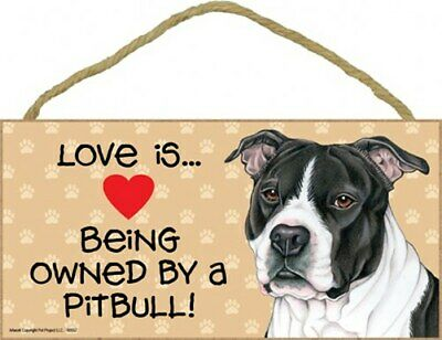 Pitbull Sign I Love My 5x10